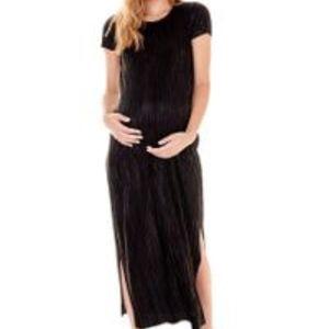 IMANIMO NWT Black Maternity dress with side slits
